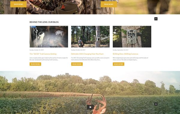 Browning Trail Cameras – Website & Storefront